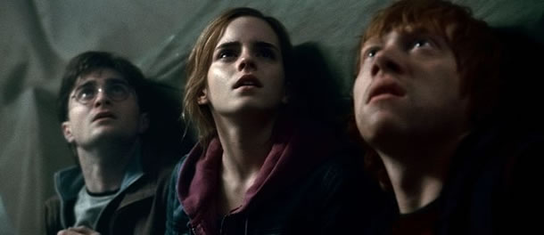 Daniel Radcliffe, Emma Watson and Rupert Grint in Harry Potter and the Deathly Hallows: Part 2