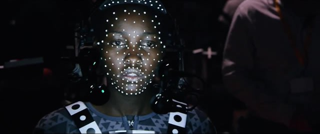 Lupita N'yongo plays a CGI character in the Star Wars: The Force Awakens cast.