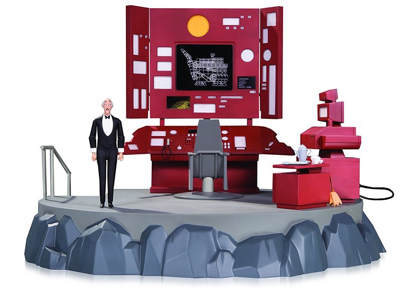 Batman: The Animated Series Batcave with Batcomputer and Alfred