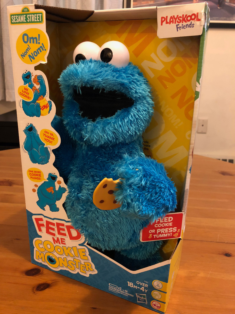 Sesame Street Feed Me Cookie Monster Plush