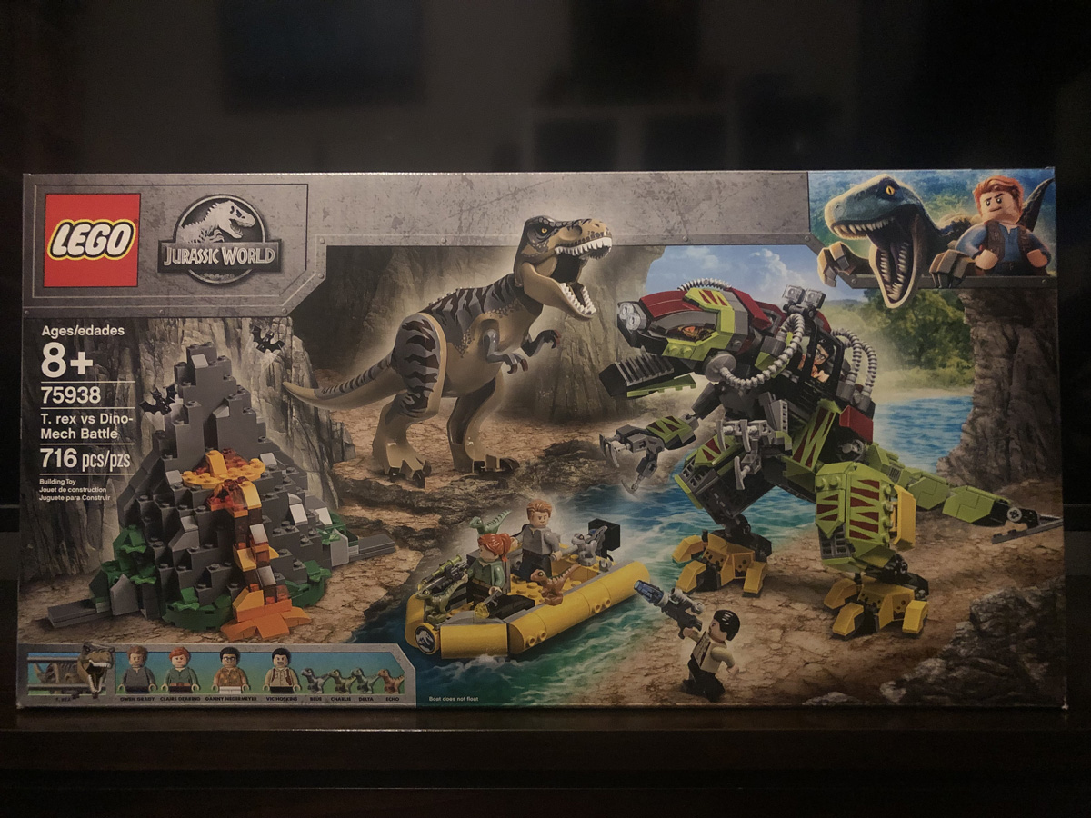 LEGO Jurassic World T. Rex vs Dino-Mech Battle