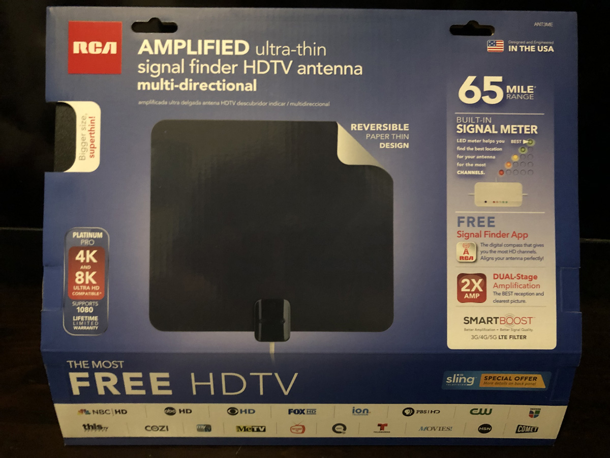 RCA Indoor TV Amplified Antenna Digital HD