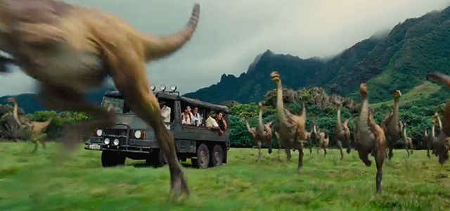 Gallimimus in JURASSIC WORLD (2015)