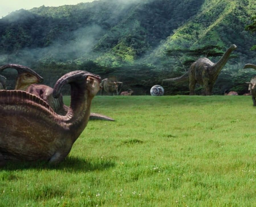 Parasaurolophus in JURASSIC WORLD (2015)