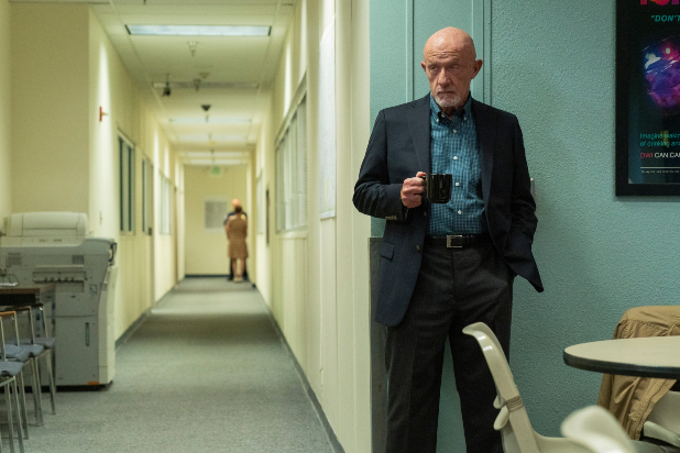 Jonathan Banks as Mike Ehrmantraut - Better Call Saul _ Season 5 - Photo Credit: Greg Lewis/AMC/Sony Pictures Television