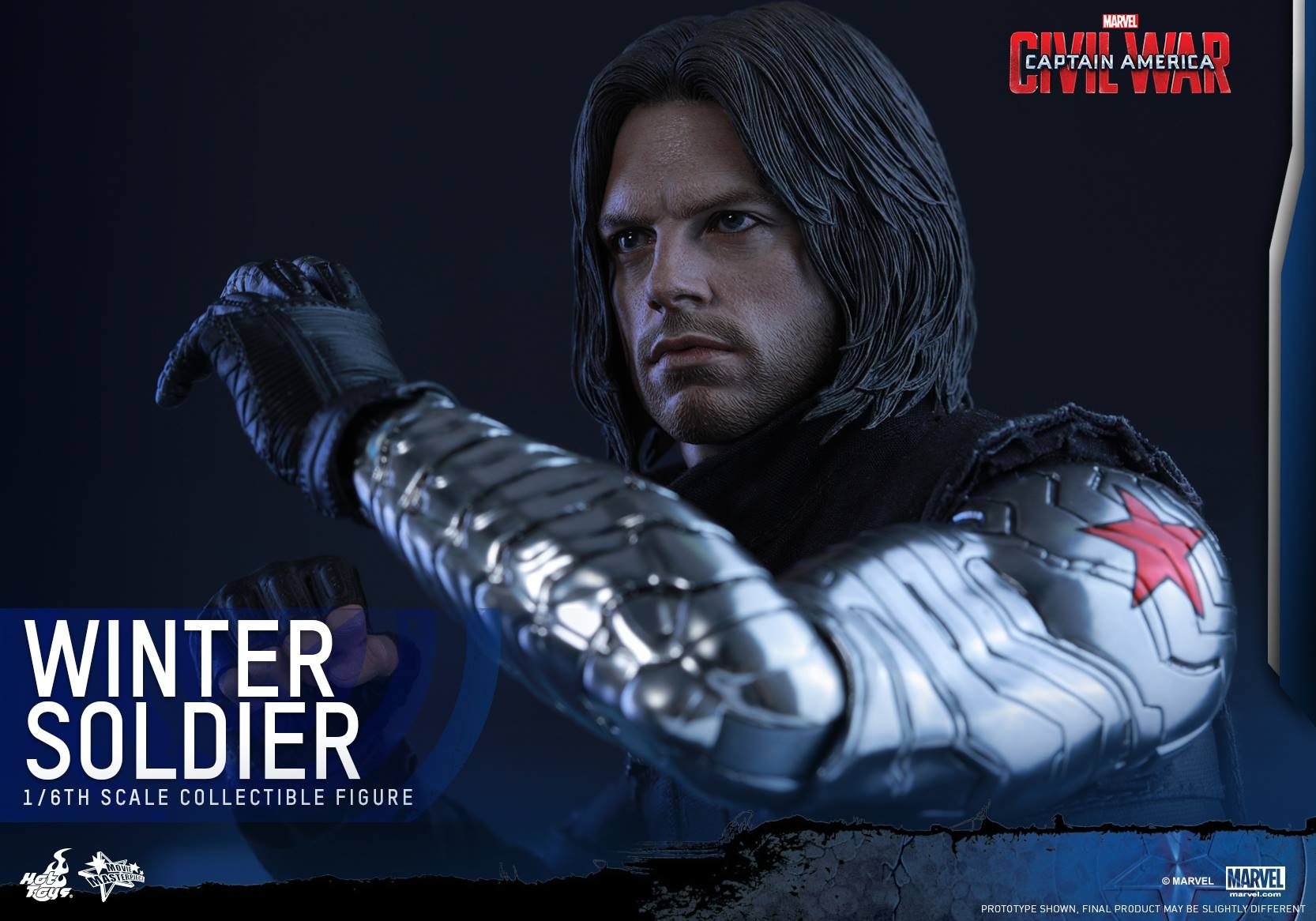 Captain America: Civil War Winter Soldier Hot Toys