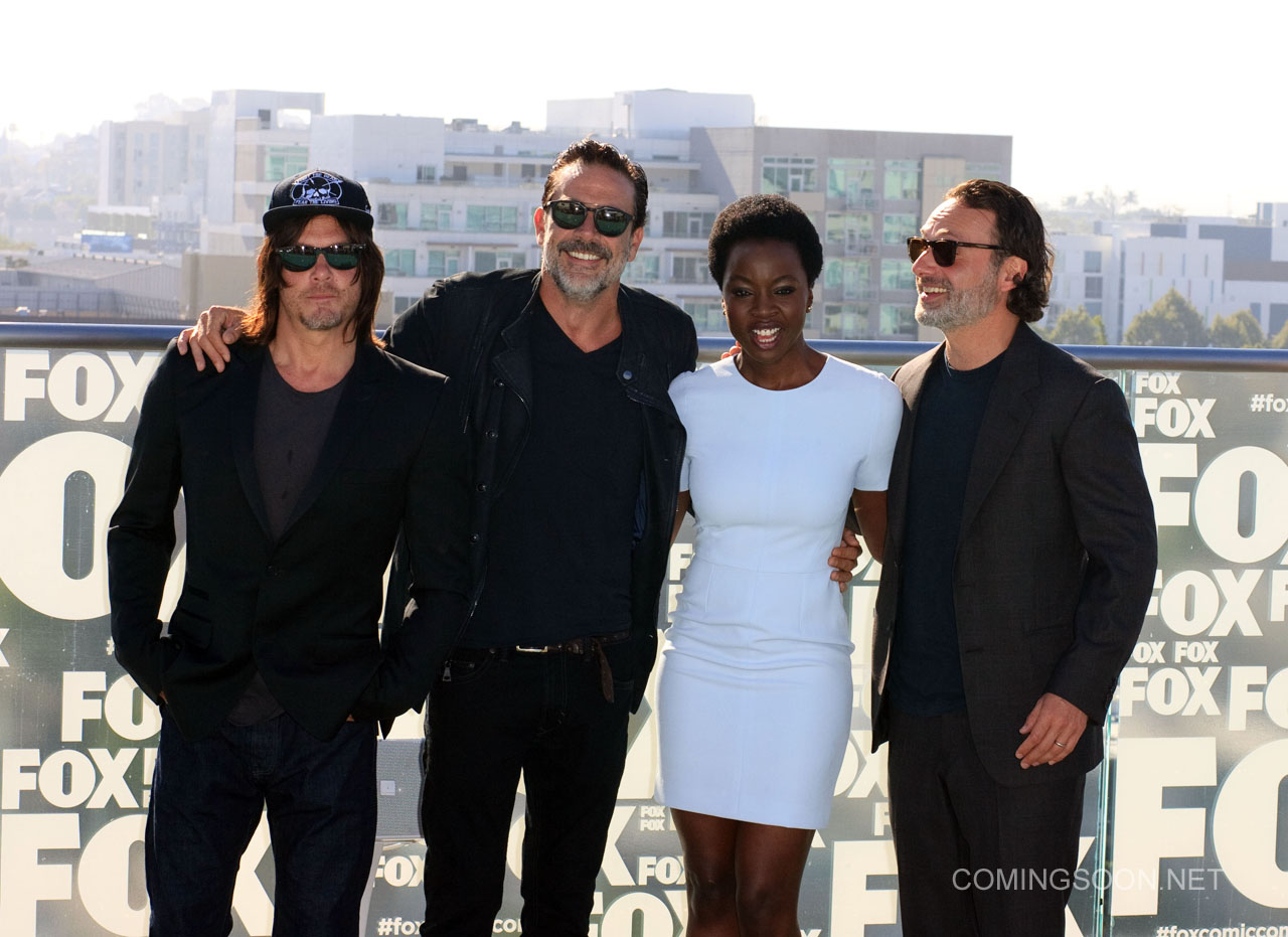 Fox Comic Con breakfast with the cast of Walking Dead and Outcast Featuring: Norman Reedus, Jeffery Dean morgan, Danai Gurira, Andrew Lincon Where: San Diego, California, United States When: 22 Jul 2016 Credit: Tony Forte/WENN