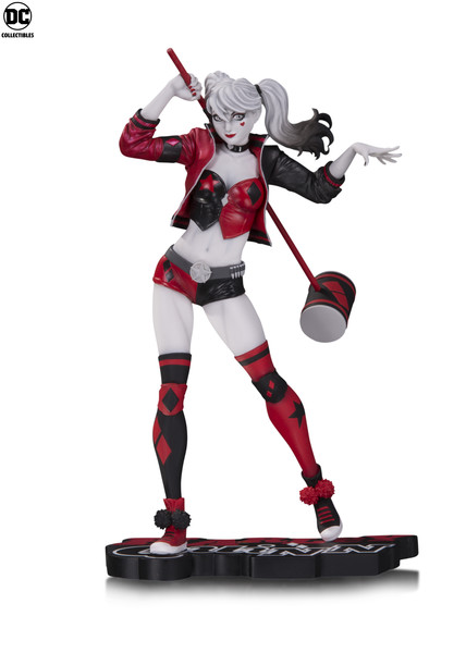 HARLEY QUINN RED, WHITE & BLACK STATUE by Philip Tan