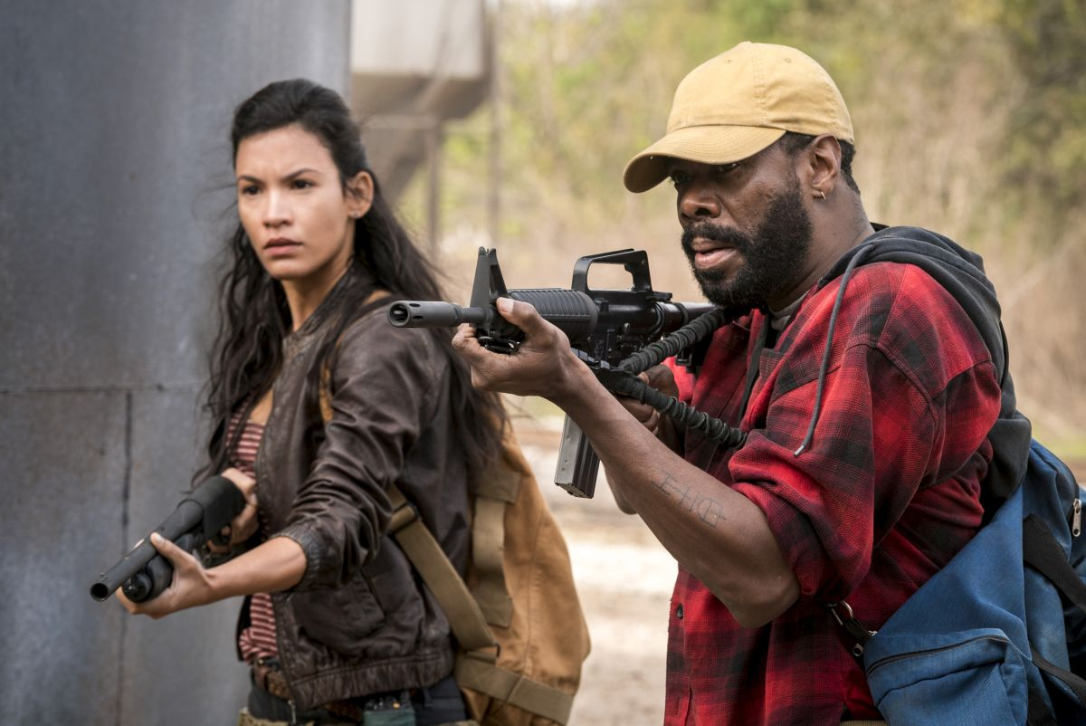 Danay Garcia as Luciana, Colman Domingo as Victor Strand - Fear the Walking Dead _ Season 4, Episode 2 - Photo Credit: Richard Foreman, Jr/AMC