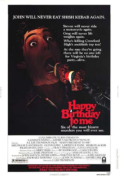 Happy Birthday to Me One-Sheet