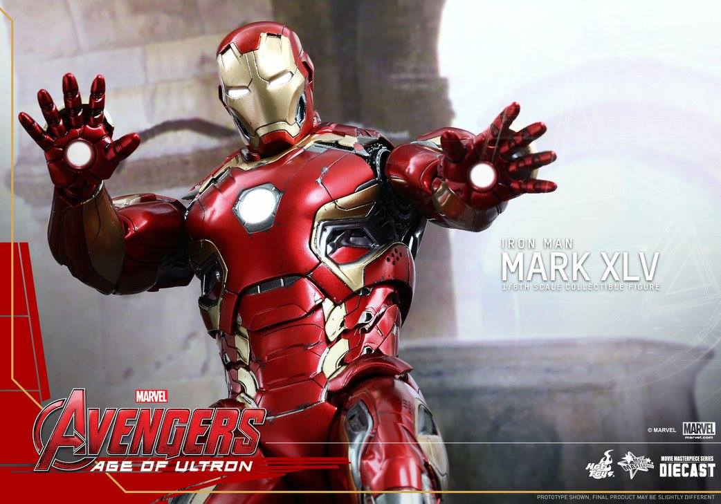 Avengers age of ultron hot toys 16th scale iron man mark xlv avengers age of ultron iron man mark xlv collectible figure voltagebd Image collections