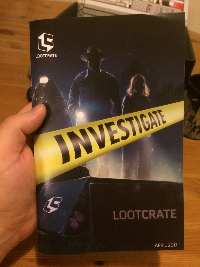 April Loot: Investigate