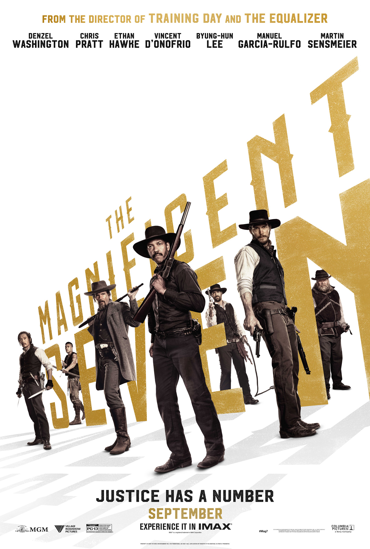 Image result for the magnificent seven poster 2016