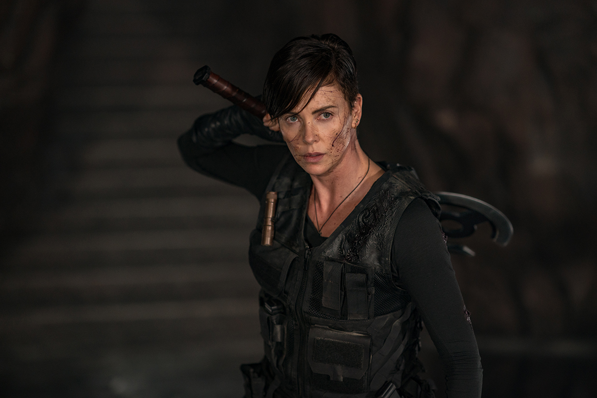 "THE OLD GUARD - Charlize Theron as ""Andy"" Photo credit: Aimee Spinks/NETFLIX ©2020"