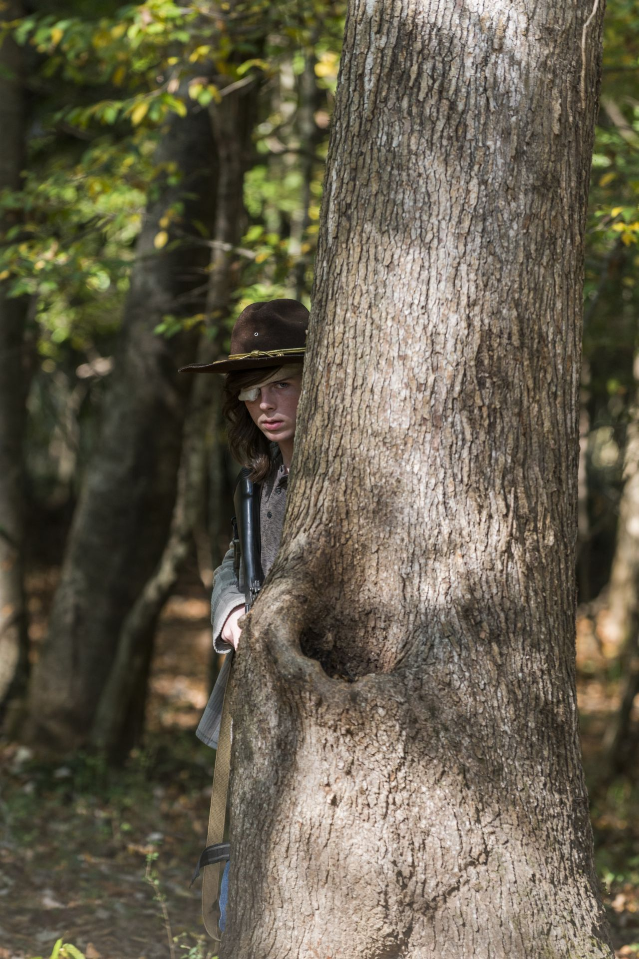 Chandler Riggs as Carl Grimes - The Walking Dead _ Season 7, Episode 15 - Photo Credit: Gene Page/AMC