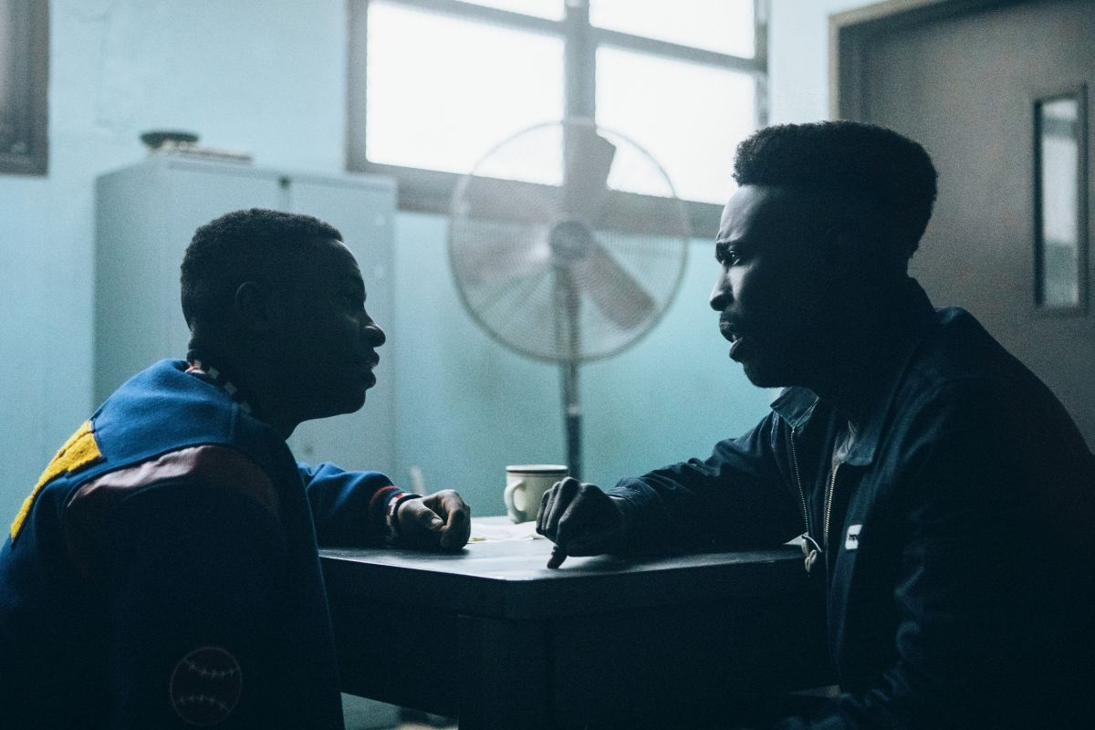 Caleel Harris as Young Anton McCray and Michael K. Williams as Bobby McCray