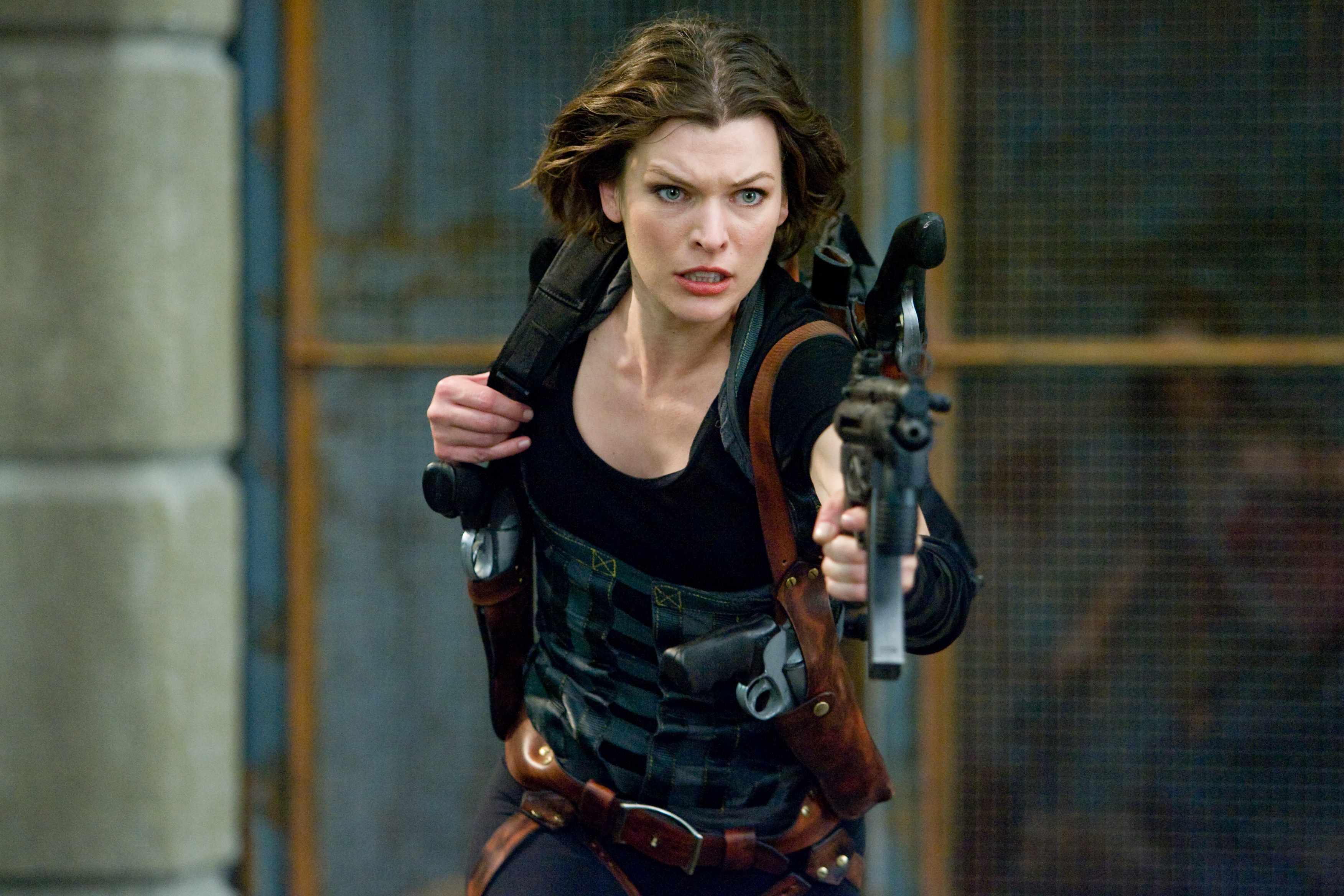 Milla Jovovich in the Resident Evil movies